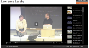 Lessig en Blip.tv